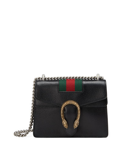 Dionysus Small Chain Crossbody Bag, Black
