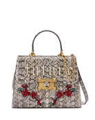 Osiride Future Snakeskin Top Handle Bag