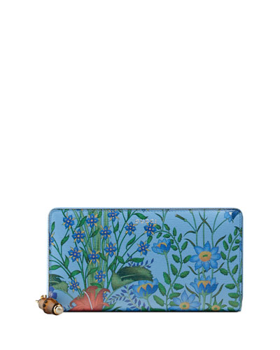 Flora Continental Zip-Around Wallet