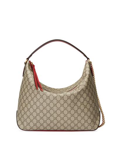 GG Supreme Large Hobo Bag