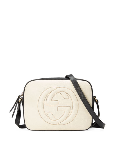 GG Zip-Top Small Camera Disco Bag, White/Black