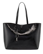 Large East-West Shopping Tote Bag