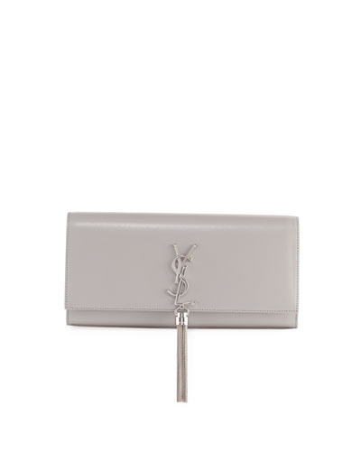 Kate Monogram Smooth Leather Tassel Clutch Bag