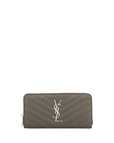 Monogram Quilted Leather Zip-Around Wallet