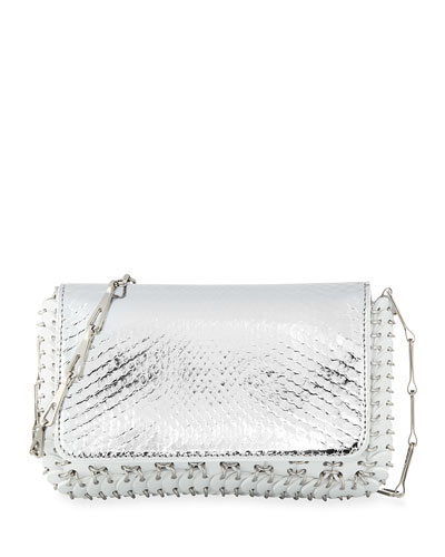 14#01 Classic Link Mini Python Shoulder Bag