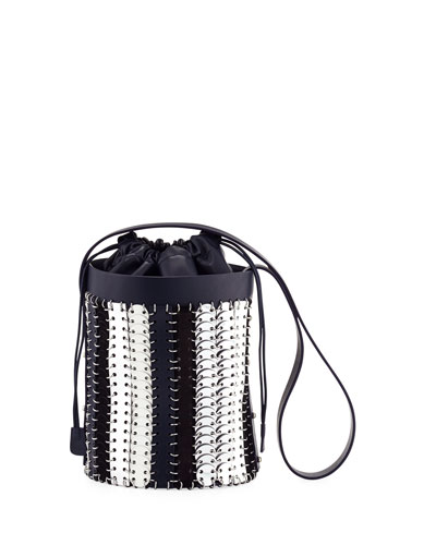 14#01 Chain-Link Mini Bucket Bag, Blue