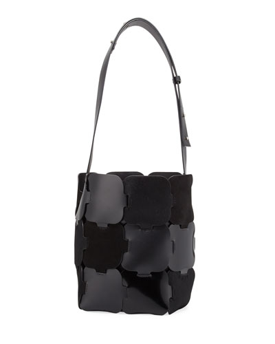 1601 Patchwork Medium Hobo Bag, Black