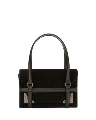 New Aragon Suede Shoulder Bag