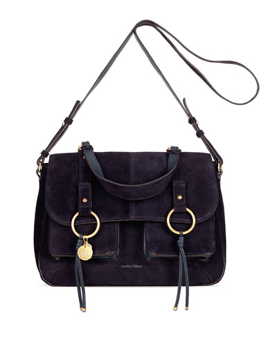 Filipa Large Suede Shoulder Bag
