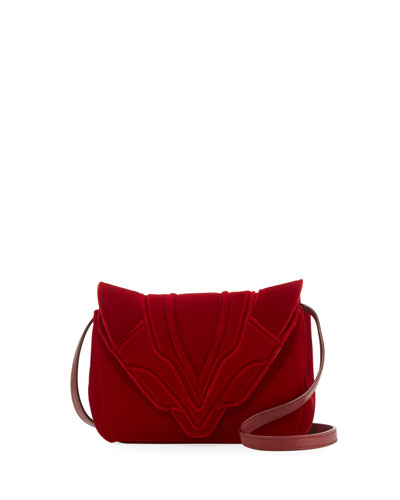 Felix Small Velvet Crossbody Bag
