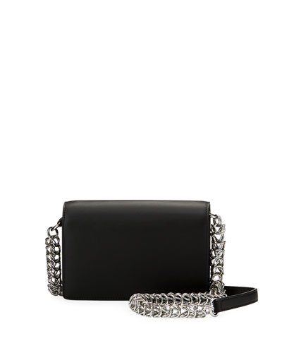 Attica Biker Smooth Calf Shoulder Bag