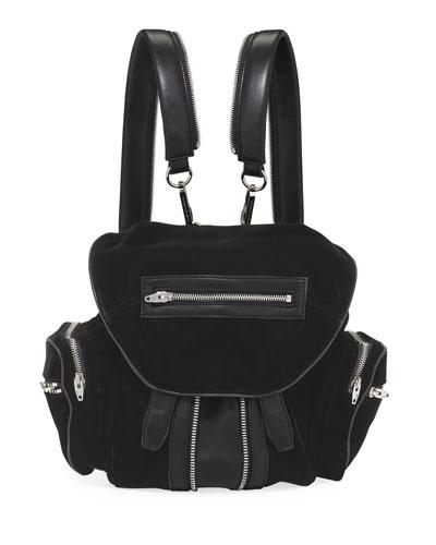 Marti Velvet Multi-Pocket Backpack