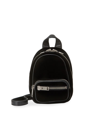 Attica Mini Velvet Multifunction Backpack