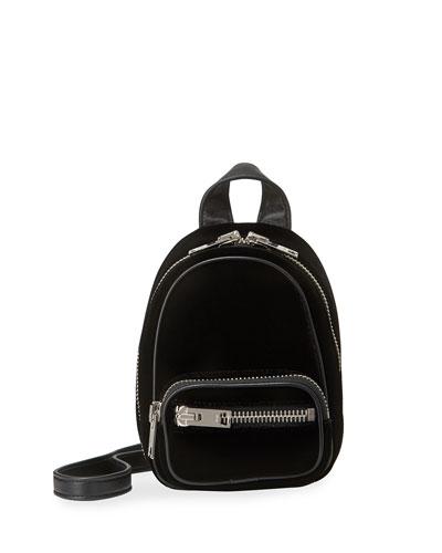 Attica Mini Velvet Multifunction Bucket Bag
