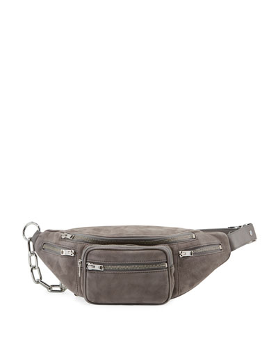 Attica Suede Multi-Pocket Belt Bag