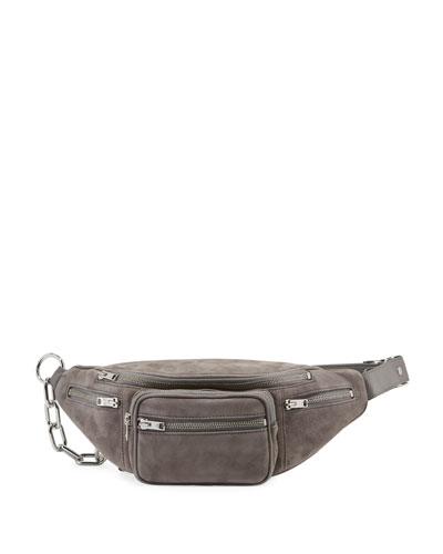 Attica Suede Multi-Pocket Belt Bag