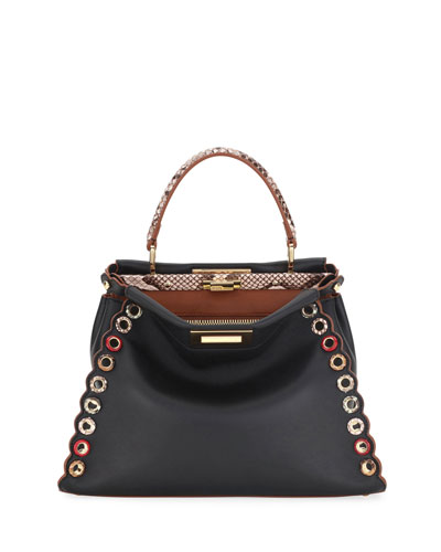 Peekaboo Medium Leather Satchel Bag