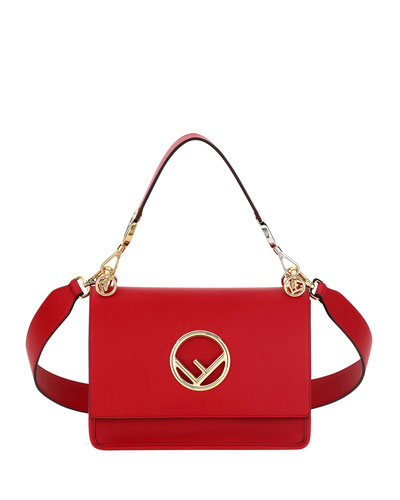 Kan I Small Leather Shoulder Bag, Red