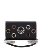 Seal Snake-Grommet Leather Wallet On A Chain