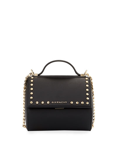 Pandora Box Chain Studded Shoulder Bag