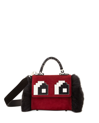 Baby Alex Eyes Fur Satchel Bag