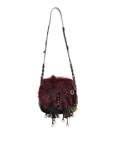 Corsaire Medium Mixed-Fur Messenger Bag