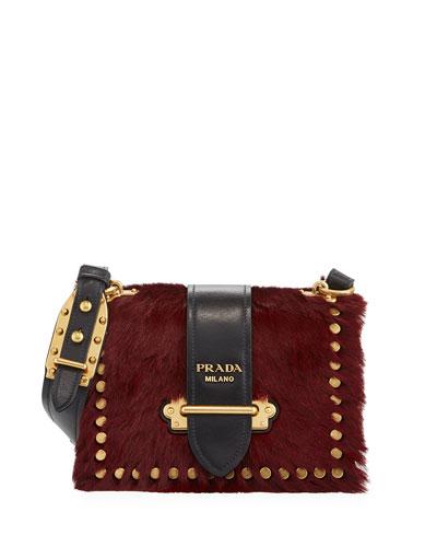 Cahier Small Colorblock Calf Hair Shoulder Bag
