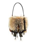 Crosaire Fox Fur Shoulder Bag