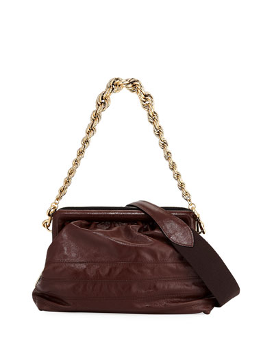 Quilted Frame Chain Shoulder Bag
