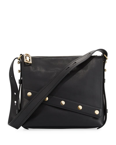 Downtown Studded Leather Crossbody Bag