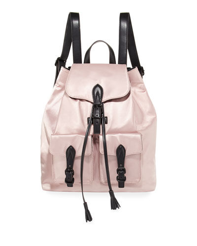 Alice Drawstring Satin Backpack