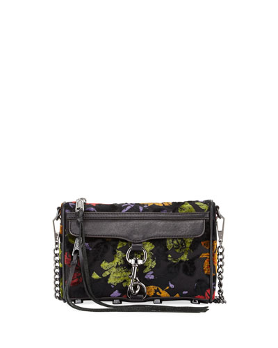 Mac Mini Velvet Crossbody Bag