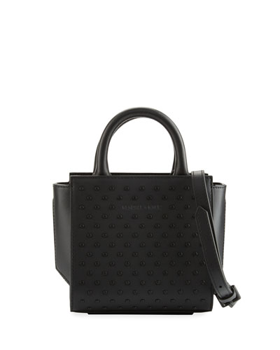 Brook Nano Studded Satchel Bag, Black