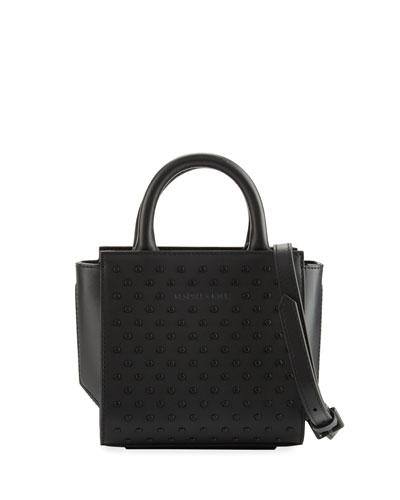 Brook Nano Studded Satchel Bag, Black