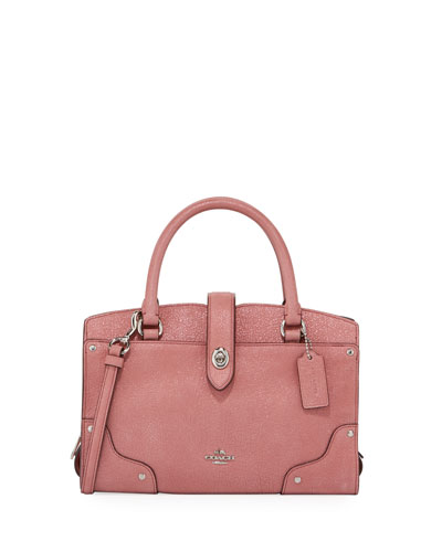 Mercer 24 Glitter Rose Satchel Bag
