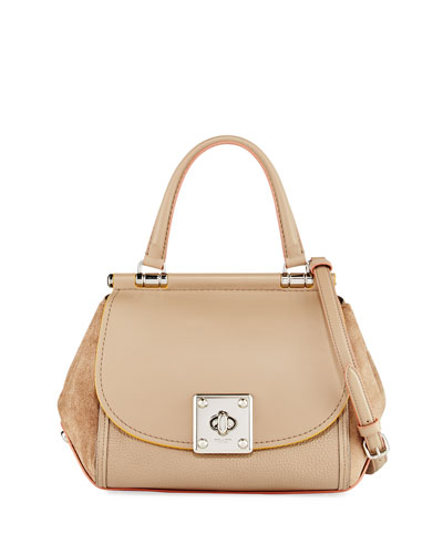 Drifter Mixed Leather Top-Handle Bag