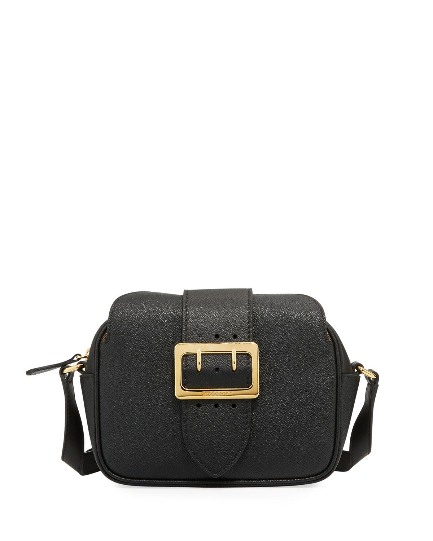 dc0b3e4de19f Grain Leather Buckle Crossbody Bag