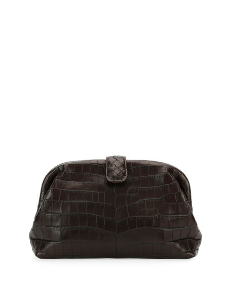 Bottega Veneta The Lauren 1980 Soft Croc Clutch Bag