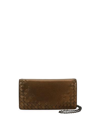 Intrecciato Flap Antique Napa Wallet-on-Chain