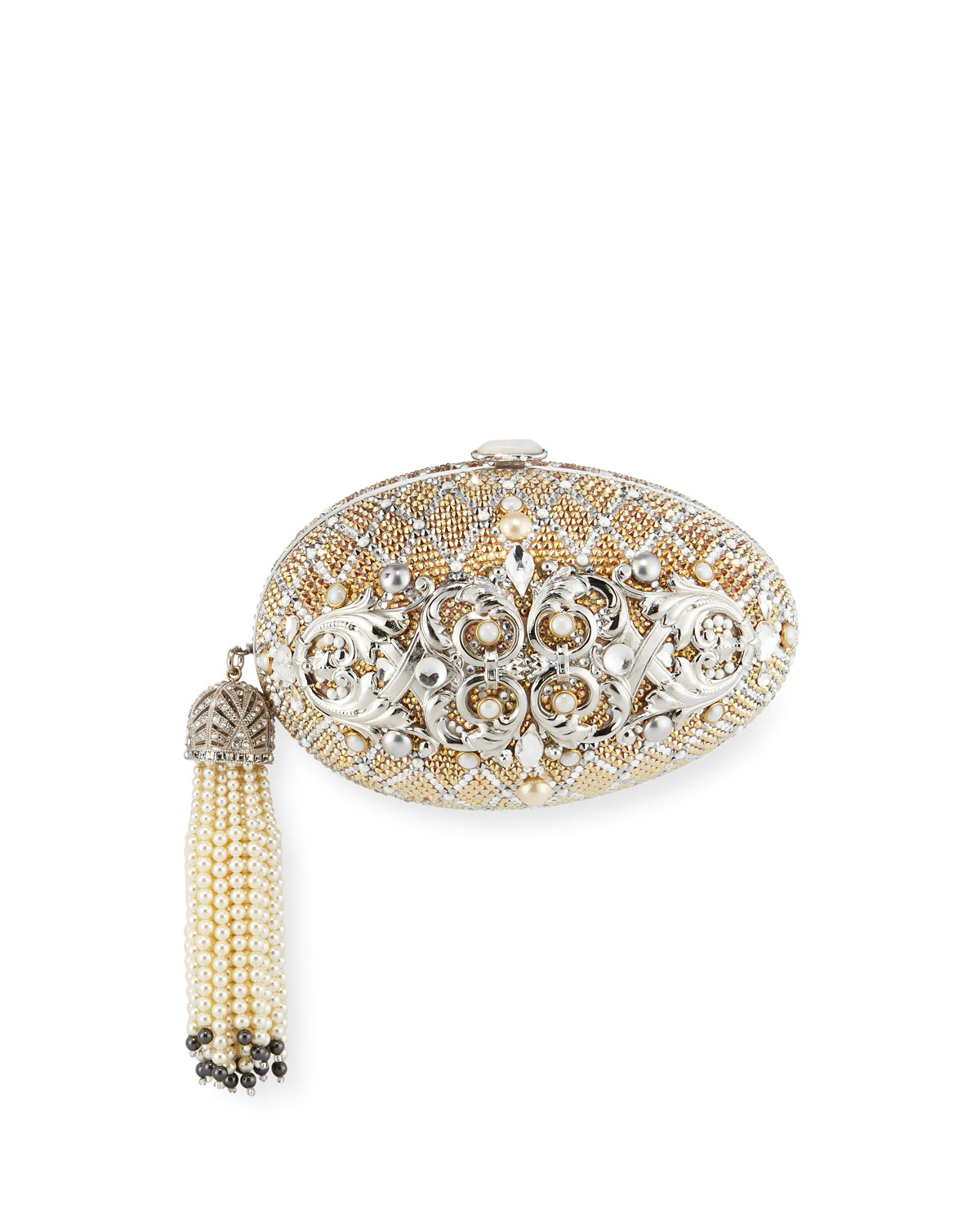 Crystal Egg Clutch Bag