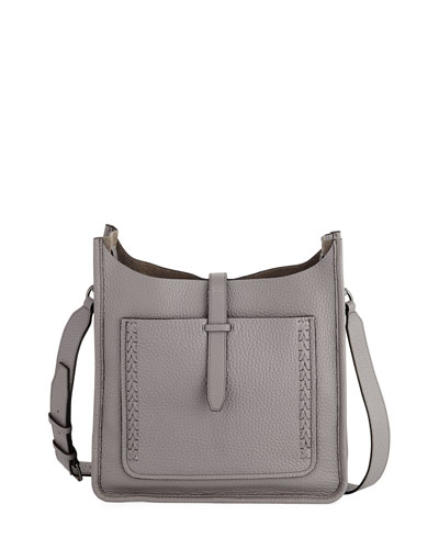 Unlined Whipstitch Crossbody Bag