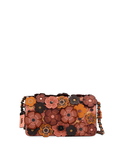 Dinky Medium Tea Rose Crossbody Bag, Orange