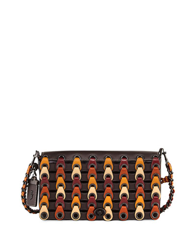 Dinky Link Colorblock Crossbody Bag, Brown