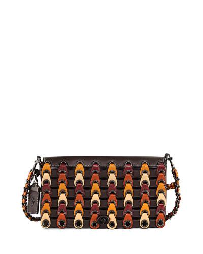 Dinky Link Colorblock Crossbody Bag, Brown