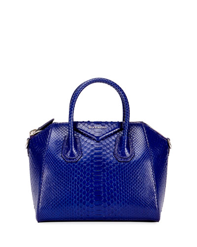 Antigona Small Python Satchel Bag