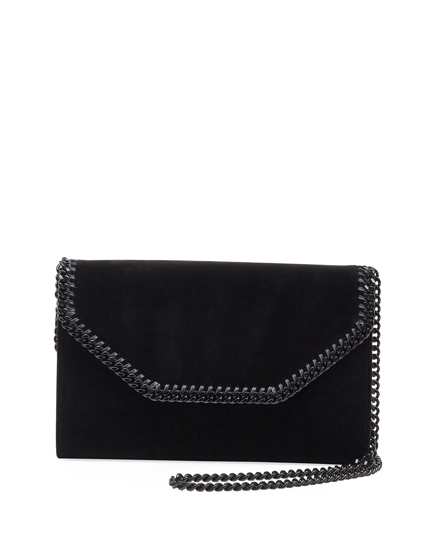 Falabella Eco Alter Velvet Box Clutch Bag