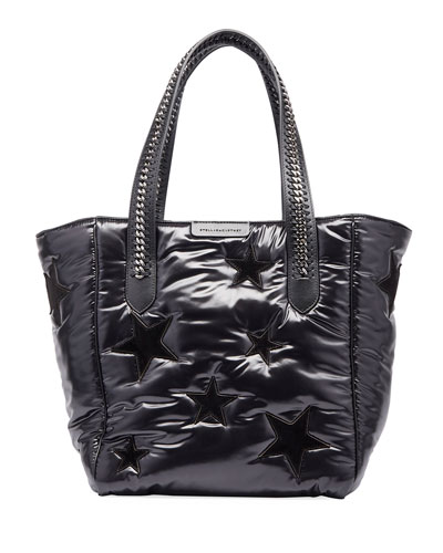 All Over Stars Falabella Go Tote Bag, Black/Multi
