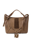 Sedona Braided Satchel Bag, Brandy