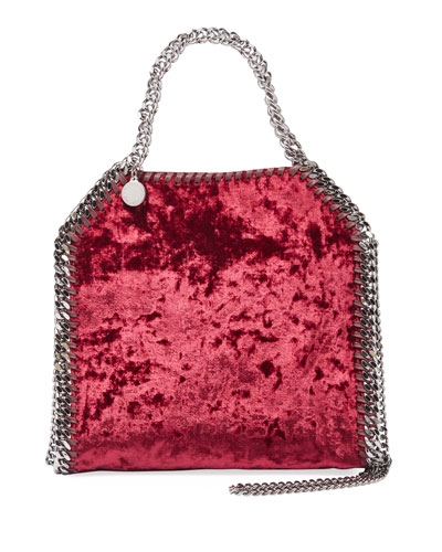 Falabella Mini Crushed Velvet Tote Bag