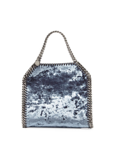 Falabella 3-Chain Fold-Over Velvet Tote Bag